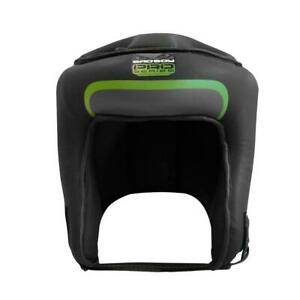 Bad Boy Pro Series 3.0 Open Face Guard Green Leather Boxing Kickboxing Striking