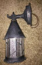 VINTAGE English Tudor Outdoor Light 10 x 4.5x 5.5 Black Antique Gothic Old