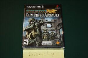 SOCOM: US Navy Seals Combined Assault (PS2) NEW SEALED BLACK LABEL MINT!