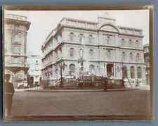 Italia, Napoli, Palazzo della Borsa  Vintage citrate print. Italy. Naples  Tir