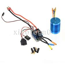 HobbyPower 60A ESC Brushless Speed Controller + 9T 4400KV Motor for 1/10 1/12 RC