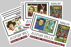 ASTON VILLA  - 1976/77  SERIES 1 - COLLECTORS POSTCARD SET