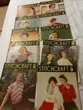 10 X Vintage Stitchcraft Magazine 1950's To 1955