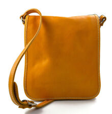 Tracolla pelle uomo donna giallo borsa pelle borsello uomo donna postino spalla
