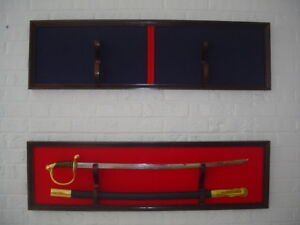 Solid wood US Military Sword Plaque Display