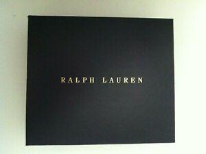 "POLO RALPH LAUREN NAVY GIFT BOX SIZE: 7""X 6""X 2"""