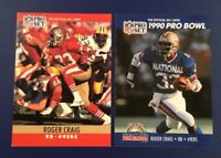 1990 Pro Set # 287 # 385 ROGER CRAIG NFC Pro Bowl San Francisco 49ers Lot 2