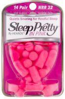 Sleep Pretty in Pink Women's Ear Plugs 14 pairs