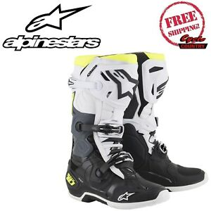 ALPINESTARS MOTORCYCLE SIZE 11 BOOTS  TECH 10 DIRT OFF ROAD MX FREE SHIPPING