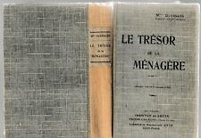 GUENNARD - LE TRESOR DE LA MENAGERE - LIVRE ANCIEN RARE