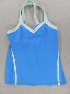 LuLuLemon Fitness Running Yoga Tank With Bra (Womens Size 10) Blue