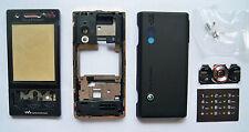 Black fascia housing case facia faceplate cover for Sony Ericsson W705i w705 715