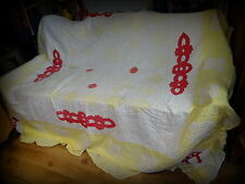 Antique Late 19th Century Country House Applique Durham Textile Quilt