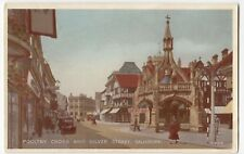 Salisbury; High St & Poultry Cross PPC Unposted, c 1930s, Note Early Cargo Bike!