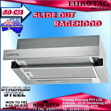 EUROTAG 60cm-600mm High Quality Stainless Steel Slide Out Rangehood Canopy F0560