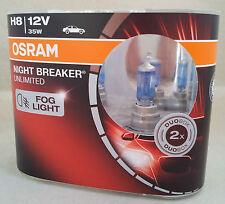 H8 OSRAM Night Breaker UNLIMITED Fog Light Duo Pack 64212NBU-HCB