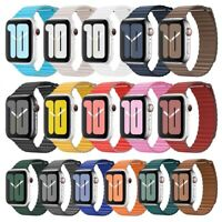 For Apple Watch Magnetic Leather Loop Band 42mm 38mm 44mm 40mm Series 6/5/4/3/2