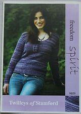 Twilley's  Ladies Jumper  Knitting Pattern In Freedom Spirit  Leaflet 9059