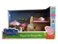 Peppa Pig Helado Furgoneta Camión Parque Infantil Con Figura Juguete &