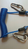 Tool Safety Lanyard 2 Stainless Steel Carabiners Secure Screw 4 Professional Use