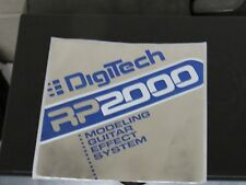 Digitech RP2000 Factory Sticker roughly 5 x 5 inches shiny silver effects guitar
