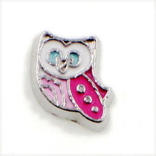 10pcs owl Floating charms For Glass memory Locket Free shipping FC1606