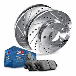 For 2016-2018 Honda Civic Rear PBR AXXIS Drill/Slot Brake Rotors+Ceramic Pads