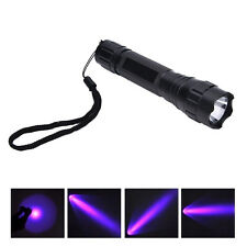UV WF-501B LED 365NM Ultra Violet Blacklight Flashlight Torch18650 Light LampH2