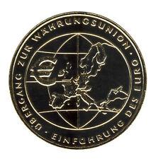DEUTSCHLAND 10 Euro SILBER 2002 - Einführung des Euro - GOLDAPPLIKATION