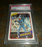 1980 O-PEE-CHEE OPC #211 PAUL MOLITOR Milwaukee Brewers HOF PSA 8 NM MINT