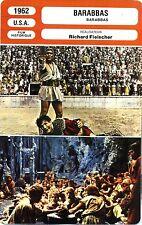 Fiche Cinéma. Movie Card. Barabbas (USA) Richard Fleischer 1962