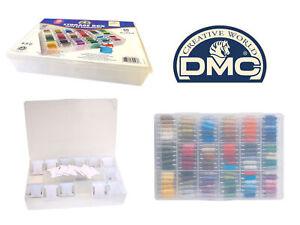 DMC Storage Box for Floss/Embroidery Thread Bobbins+ 50 Free bobbins - Holds 108