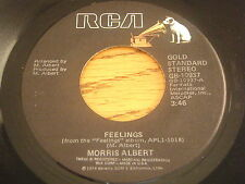 """MORRIS ALBERT - FEELINGS    7"""" VINYL"""