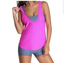 Bettydom Traje De Baño conjunto Bikini de 3 Piezas Deporte Ropa de playa tamaño grande Uk 10 -12
