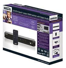 Conmutador HDMI 4 entrada 1 salida con salida de audio digital HD conectar 411 Marmitek