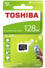 TOSHIBA M203 microSDXC 128GB 128G micro SDXC SD CLASS10 Memory Card 4K 100MB/s