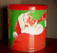 "Coca-Cola Tin Can Christmas Santa Claus Coke Santa 2017 9-1/2"" Tall"