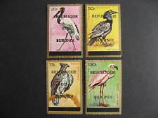 Burundi, birds set Sc C35F-I MH