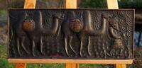 Unikat Karawane Kupferbild 53 x 21 cm Afrika außergewöhnliche Künstlerarbeit