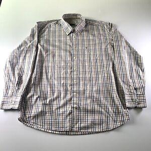 Barbour Men's Check Beige Multi Colour Regular Fit Shirt Size 2XL