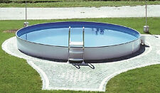 Pool Schwimmbecken rund 3,50 x 1,20 m starke Stahlwand u. Innenfolie Komplettset
