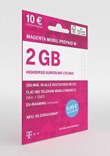 Original Telekom Magenta Prepaid M 10 € Guthaben Prepaid Handy SIM Telekom