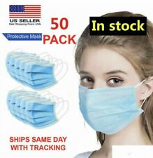 50 PCS Face Masks Mouth & Nose Cover Breathable MADE IN THE USA FAST SHIPPING