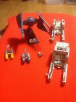 Star Wars Action Fleet Imperial TIE Interceptor With Stand (No Pilot) W/extras