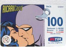 "SCHEDA TELEFONICA RICARICARD-""PHANTOM""-VALORE Lire 100.000-SCADENZA GIU. 2000"