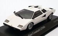 Minichamps 1/43 Scale 430 103104 - 1974 Lamborghini LP400 - White