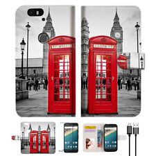 British phone Booth Wallet Case Cover For Google Pixel 2 XL-- A024