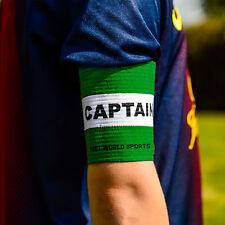 Football Captains Armband WHITE/Green JUNIOR Arm Band [Net World Sports]
