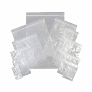 100 x Grip Seal Bags Clear Re-sealable Plastic Bags Reusable with airhole / vent