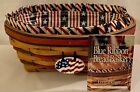 1999 Longaberger Basket All American Blue Ribbon Bread Basket Combo